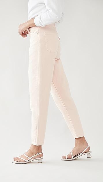 Levi's 高腰宽松锥形窄脚牛仔裤