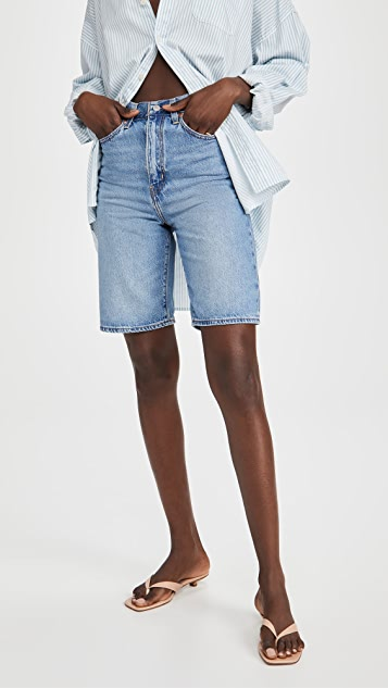 Levi's High 宽松及膝短裤
