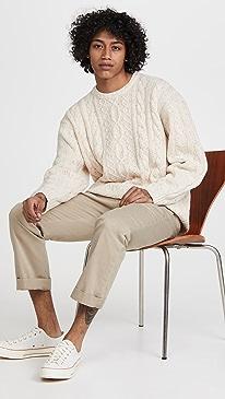 리바이스 스웨터 Levi's Stay Loose Cableknit Sweater,Peyote Mar