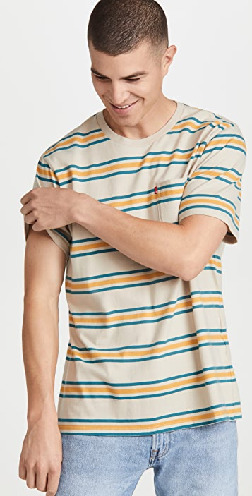 Levi's Striped Relaxed Fit Pocket Tee