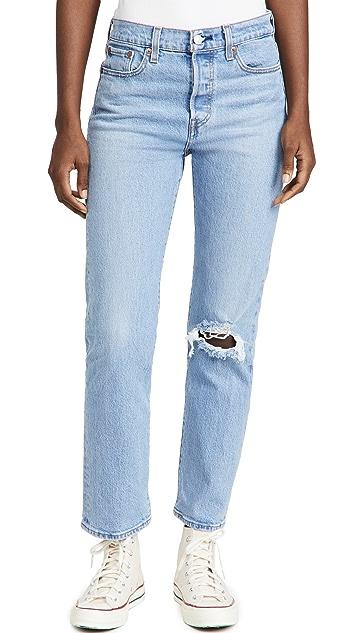 Levi's Wedgie 直脚牛仔裤
