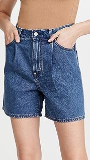 Levi's Pleated Ribcage Shorts