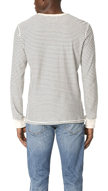 Levi's Made & Crafted Stripe Long Sleeve Henley