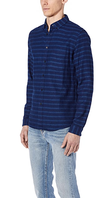 Levi's Made & Crafted Indigo Stripe Button Down Shirt