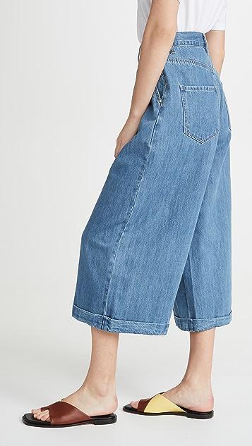 L.F. Markey 正面裥褶牛仔裤