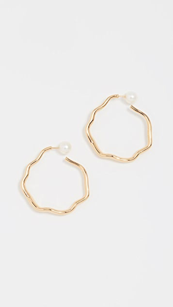 Lucy Folk Relic Hoop Earrings - Yellow Gold