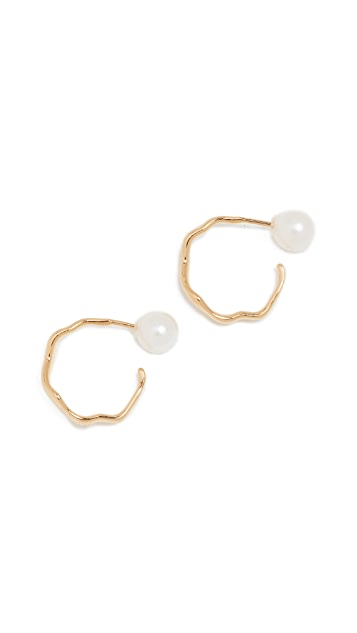 Lucy Folk Mini Relic Hoop Earrings