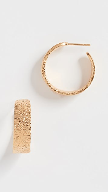 Lucy Folk Anchovy Hoop Earrings - Yellow Gold