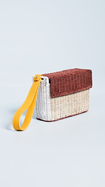 Lucy Folk Basket Clutch