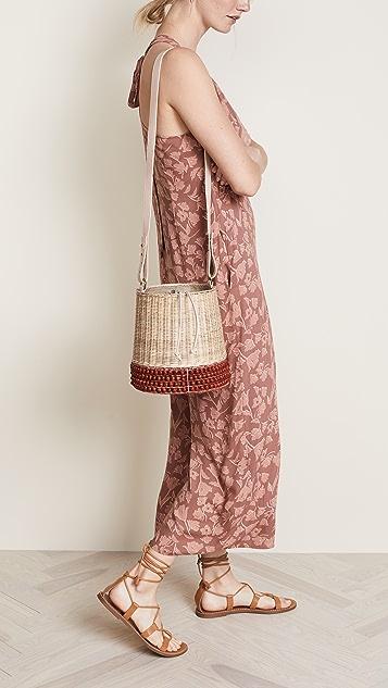 Lucy Folk Basket Bucket Bag