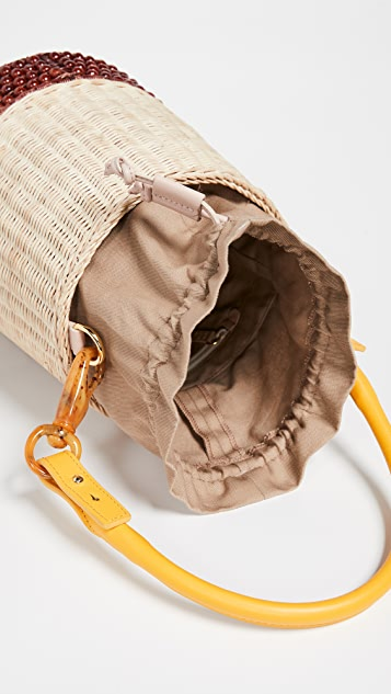 Lucy Folk Basket Bucket Bag