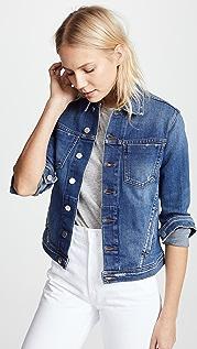 L'AGENCE Celine 修身版型仿旧夹克
