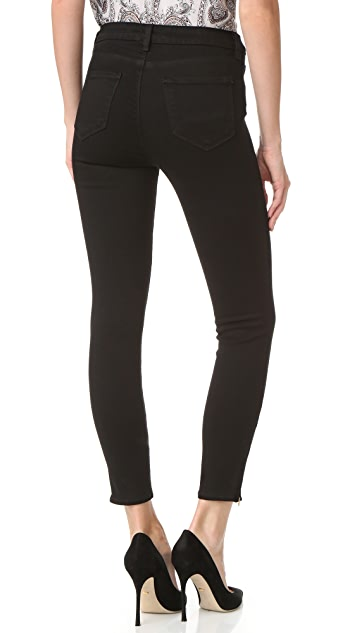 L'AGENCE Andrea High Rise Ankle Zip Jeans