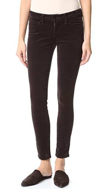 L'AGENCE Chantal Low Rise Skinny Velveteen Cord Pants