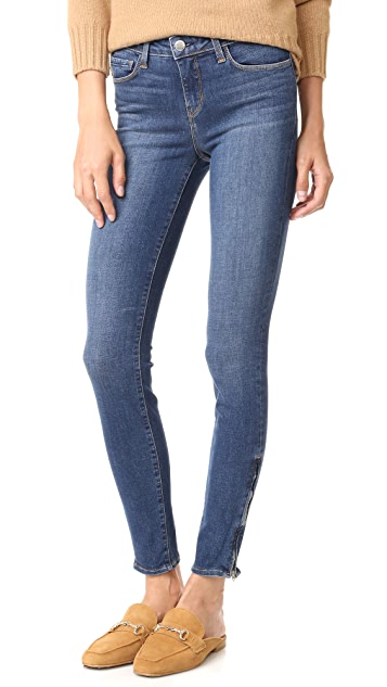 L'AGENCE Chanelle Skinny Ankle Zip Jeans