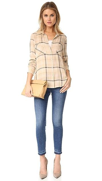 L'AGENCE Denise Contrast Back Shirt