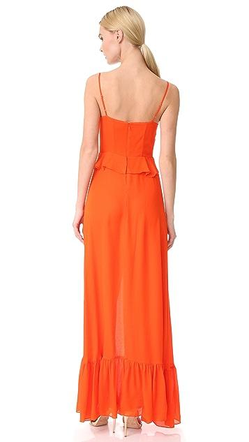 L'AGENCE Perla Ruffle Maxi Dress