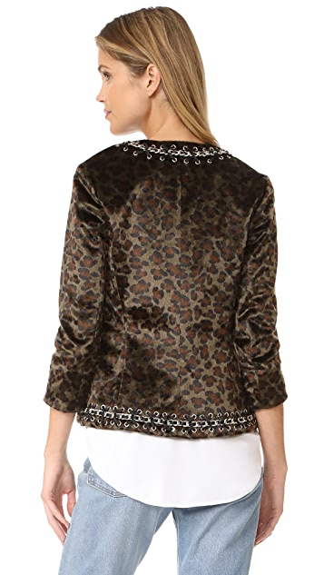 L'AGENCE Le Cheval Chain Trim Jacket