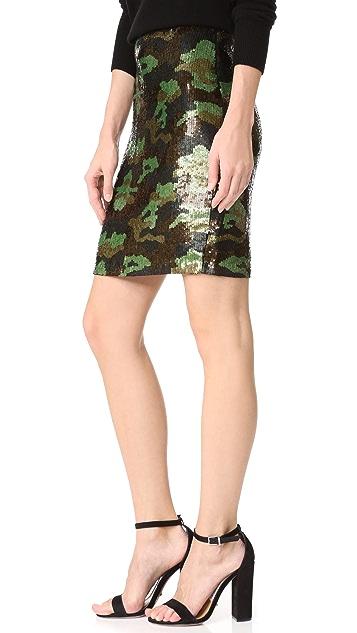 L'AGENCE Phoebe Sequin Skirt