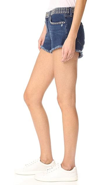 L'AGENCE Zoe Studded Shorts