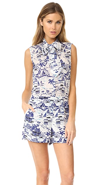L'AGENCE Behati Sleeveless Romper
