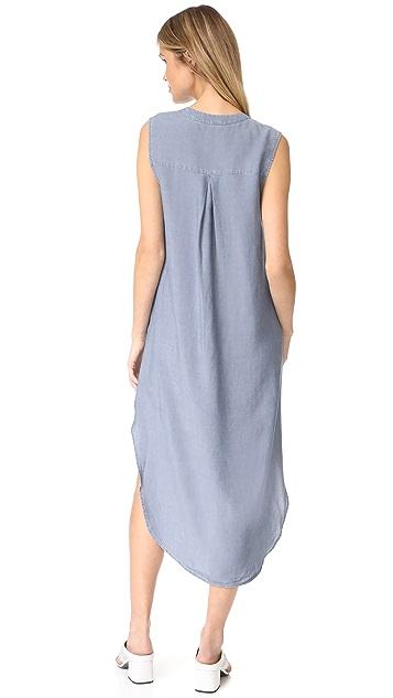 L'AGENCE Morocco Sleeveless Shirt Dress