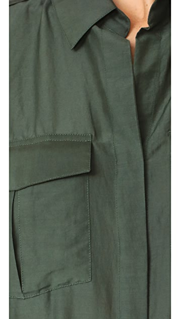 L'AGENCE Alek Front Pocket Blouse
