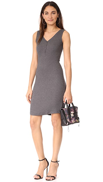 L'AGENCE Everly Henley Tank Dress