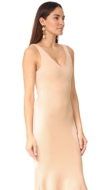 L'AGENCE Lucia V Neck Dress