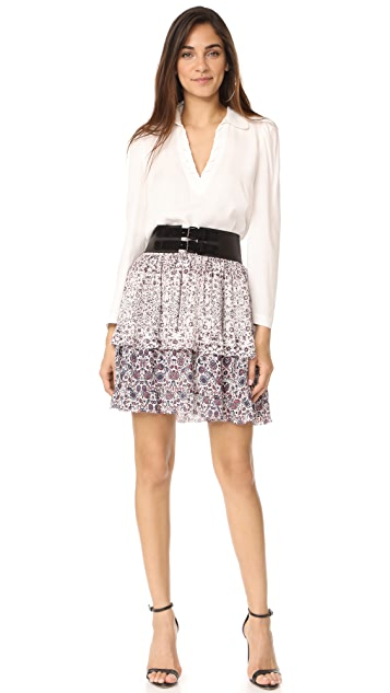 L'AGENCE Rosie Tiered Ruffle Skirt