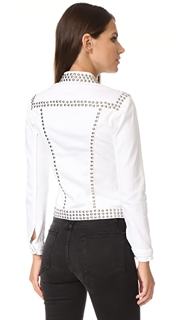 L'AGENCE Celine Studded Slim Fit Jacket