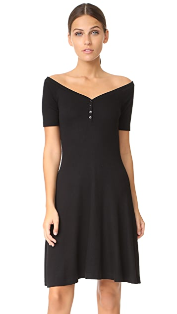 L'AGENCE Elia Off Shoulder Dress