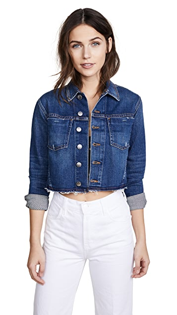 L'AGENCE Cropped Denim Jacket