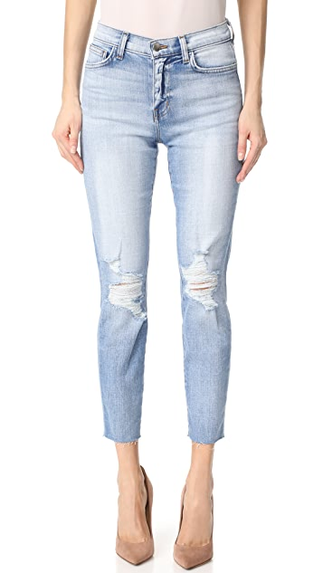 El Matador French Slim Destrcuted Raw Hem Jeans by L'agence