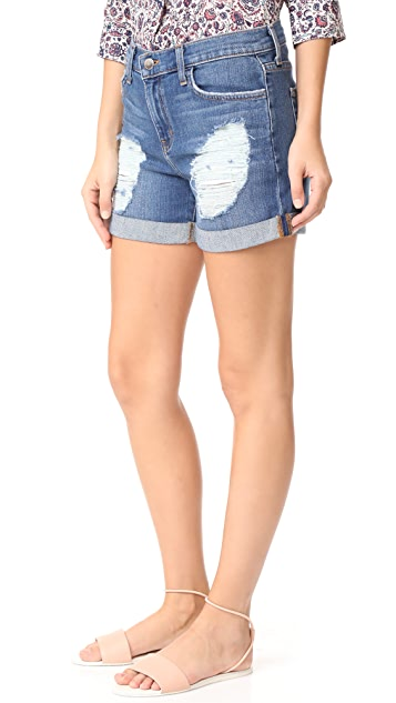 L'AGENCE Balboa Double Roll Shorts