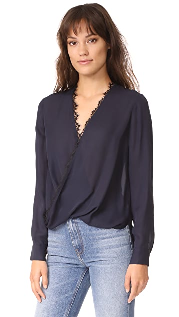 L'AGENCE Rosario Blouse with Lace