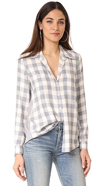 L'AGENCE Denise Contrast Shirt