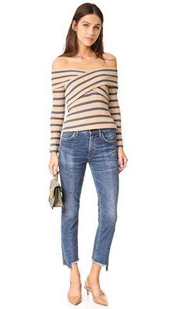 L'AGENCE Massimo Wrapped Top