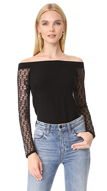 L'AGENCE Amaya Off Shoulder Sweater