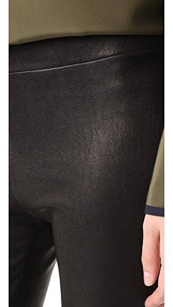 L'AGENCE Bijoux Leather Leggings