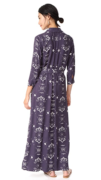 L'AGENCE Cameron Long Shirt Dress