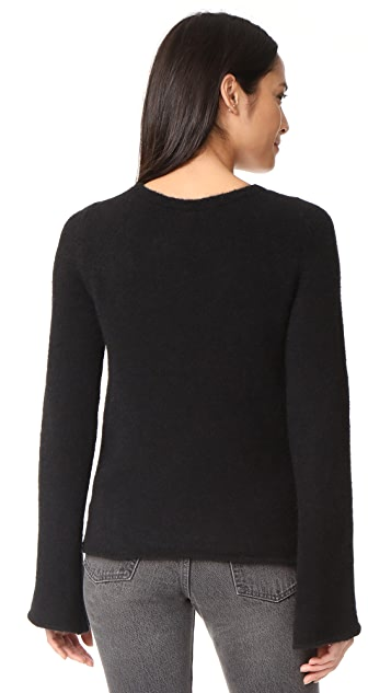 L'AGENCE Candela Lace Up Sweater