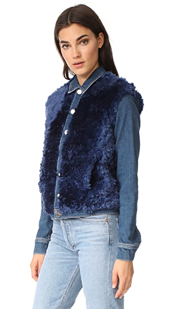 L'AGENCE Carolina Shearling Jacket