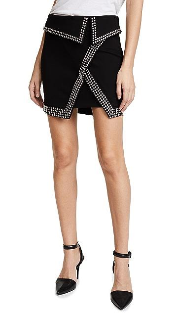 L'AGENCE Amelie Studded Wrap Skirt