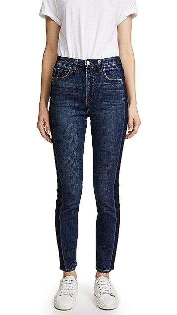 L'AGENCE High Ten Skinny Tuxedo Jeans