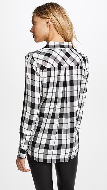 L'AGENCE Jacqueline Long Sleeve Two Pocket Shirt