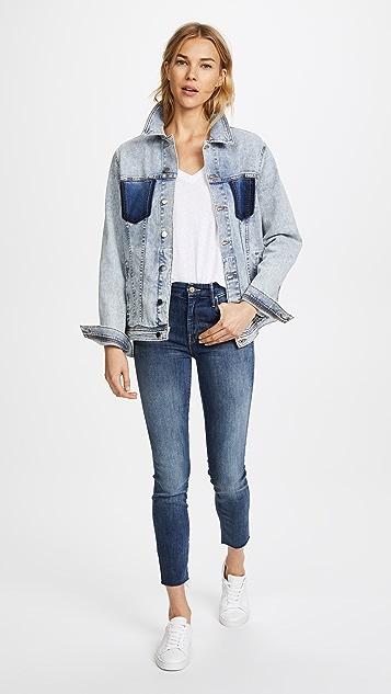 L'AGENCE Karina Oversized Jean Jacket