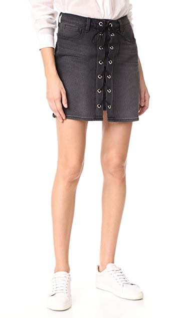 L'AGENCE Portia Front Lace Up Skirt