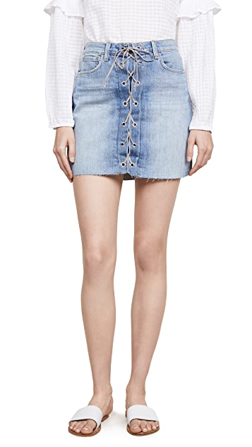 L'AGENCE Portia Lace Up Skirt