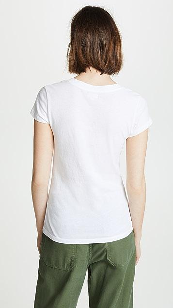 L'AGENCE Becca V 领 T 恤
